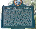 Hawthorne, Florida, historical marker (SE 221st ST), front.jpg