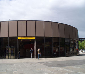 Haymarket, Newcastle - Haymarket Metro Station before renovation works began in 2007