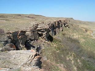 Il Salto del Bufalo schiantato (Canada), in uso fin dalla preistoria