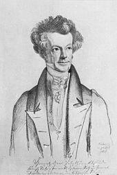 Heinrich Graf Vitzthum von Eckstädt, 1831 porträtiert von Carl Christian Vogel von Vogelstein (Quelle: Wikimedia)