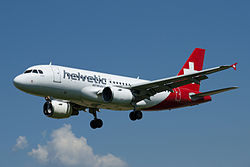 Airbus A319-100 der Helvetic Airways