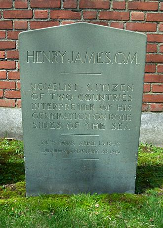 Henry James - Grave marker in Cambridge Cemetery, Cambridge, Massachusetts
