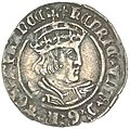 Henry VIII, second coinage, silver halfgroat OBVERSE.jpg