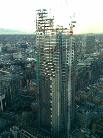 Heron Tower - Image: Heron tower under construction