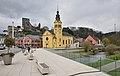 Hesperange Alzette bridge and church.jpg