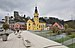 Hesperange Alzette bridge and church.jpg
