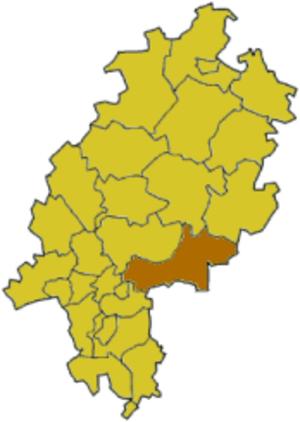 Main-Kinzig-Kreis - Image: Hessen karte main kinzig