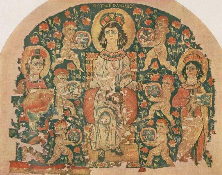 Goblen i tapiserija  764px-Hestia_tapestry