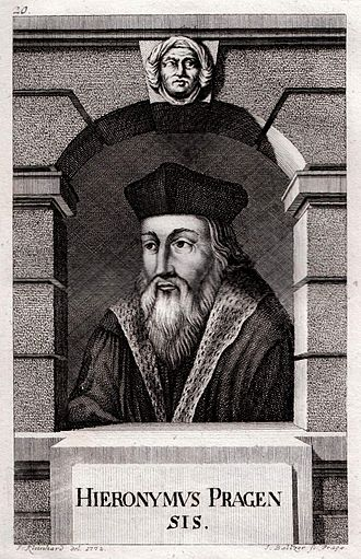 Jerome of Prague - Engraving of Jerome of Prague by Johann Balzer