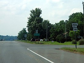 Highway 159 at US 65 in Mitchellville, Arkansas.jpg