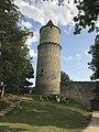 Hláska tower at Zvíkov castle in Zvíkovské Podhradí, Písek District.jpg