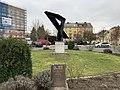 Hof Hauptbahnhof Skulptur Peter Kalb.jpg