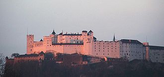 76th SS-Standarte - The Hohensalzburg Castle, where the Austrian SS often met in secret during the mid-1930s