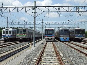 Hokusō Line - Lineup of Hokuso Line rolling stock, August 2007