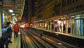 Holiday train approaching State and Lake station.jpg