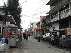 La Paz, State of Mexico - Image: Hombres Ilustres Street Los Reyes Mexico