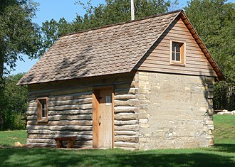 Smith County, Kansas - Image: Home on the Range cabin from SE 2