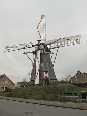 Horn, Netherlands - Image: Horn, molen de Hoop RM22632 foto 3 2013 04 14 10.10