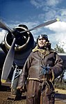 Hugh Lloyd with Beaufighter March 1944 IWM TR 1593.jpg