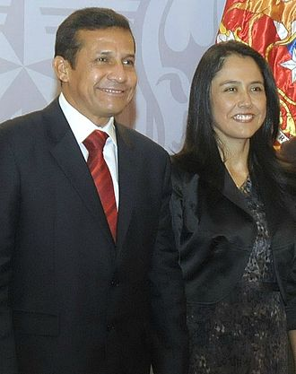 Ollanta Humala - Humala with his wife