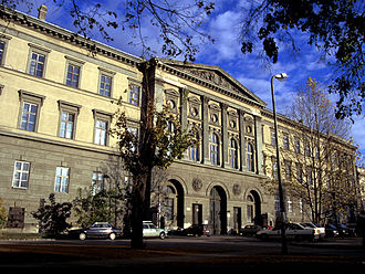 Hungarian Natural History Museum - Ludovika Academy, Budapest, the present site of the museum
