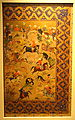 Hunting Scene, unknown artist, Shiraz, Iran, mid 16th century, gold and opaque watercolor on paper - Cincinnati Art Museum - DSC03255.JPG