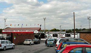 Ashton United F.C. - Hust Cross entrance