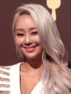 Hyolyn at Opening Ceremony of Magnum's Exhibition 'Five sense museum' on March 2, 2019.png