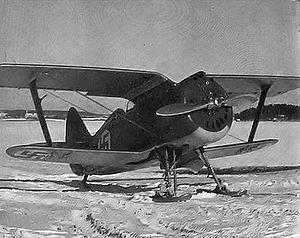 Polikarpov I-153 - A Finnish Air Force Polikarpov I-153.