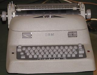 IBM Electric typewriter An electric typewriter