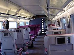 1st class open carriage in an ICE 2