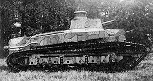 Tanks in the Japanese Army - Experimental tank No.1 (Type 87 Chi-I)