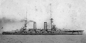 "The IJN's Satsuma, the first ship to be designed and laid down as an ""all-big-gun"" battleship"