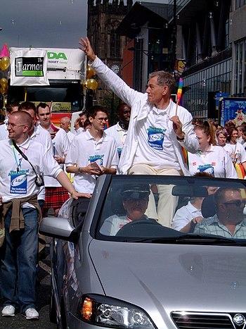 Ian McKellen at Europride 2003 Parade