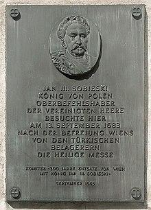Gedenktafel an der Wiener Augustinerkirche (Quelle: Wikimedia)