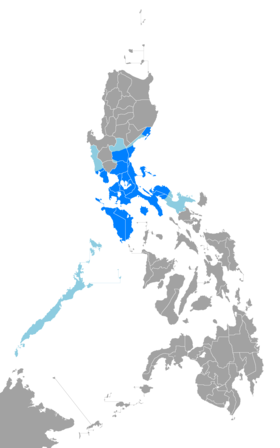 Diffusion du tagalog aux Philippines.