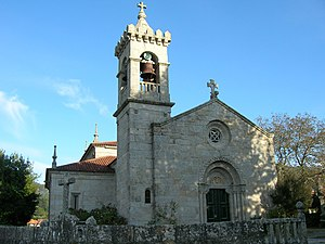 Gondomar, Pontevedra - Image: Iglesia de San Miguel de Peitieiros Gondomar (Pontevedra)