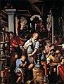 Il laboratorio dell'alchimista, Giovanni Stradano, studiolo di Francesco I.jpg