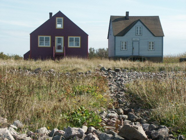 Ile aux marines, SPM, two houses