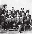 Ilia Chavchavadze with a group of Polish students in St. Petersburg, 1859.jpg