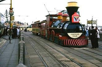 Blackpool Illuminations - Illuminated Western Train Tramcar