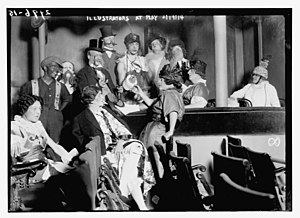 Society of Illustrators - Society of Illustrators members at the Berkeley Theater in Manhattan (February 19, 1914)