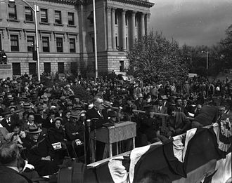 Hugh L. White - Inauguration at Mississippi State Capitol, January 22, 1952