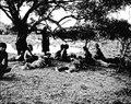 Indianer söka skugga under ett träd. Gran Chaco, Rio Pilcomayo. Bolivia - SMVK - 004659.tif