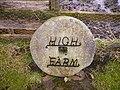 Interesting millstone name sign at High Farm - geograph.org.uk - 343650.jpg