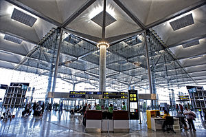 Interior de la nueva terminal T3 del aeropuerto de Málaga.