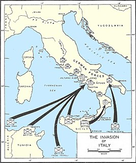 Allied invasion of Italy order of battle