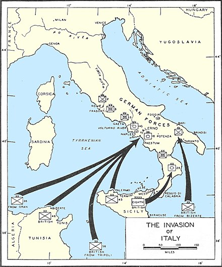 Map of the Invasion of Italy. Invasionofitaly1943.jpg