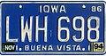 Iowa 1994 license plate - LWH 698.jpg