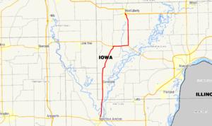 Iowa Highway 70 - Image: Iowa 70 map
